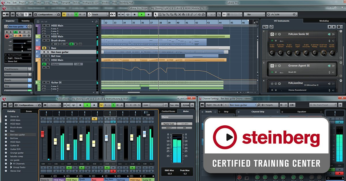 Produção Musical & Mixagem | Cubase PRO 9